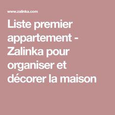 Lovely Liste Premier Appartement. Liste Premier Appartement   Zalinka Pour  Organiser Et Décorer ...