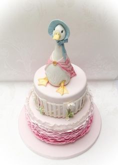 I love Beatrix Potter and so was delighted when asked to make a Jemima Puddle Duck cake for a Christening. I'd seen a clip of a tutorial by the fabulous Margie Carter, on cake decorating online. Margie made a Jemima Puddle Duck using cake, so I...