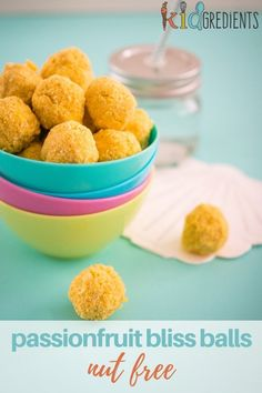 nut-free passionfruit bliss balls - Kidgredients