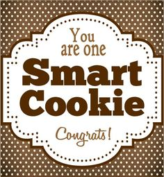 Smart Cookie Graduation Tag Printable