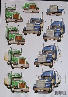3d knipvellen vrachtwagen - Google zoeken