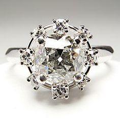 Art Deco Old European Diamond Engagement Ring Platinum Antique 1930 54