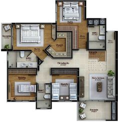 35 New Ideas For Apartment House Plans Layout Open Floor Home Building Design, Home Room Design, Home Design Plans, Plan Design, Bungalow House Plans, Bungalow House Design, House Floor Plans, Layouts Casa, House Layouts