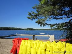 The Medicine Bow Waterfront at Camp #Yawgoog.  A summer camp in Rockville, Hopkinton, Rhode Island.  A 2014 image by David R. Brierley.