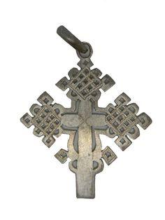 "Ethiopian Coptic Cross Pendant (2.3"" X 2"")"