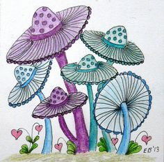 Pastel Sunhat Mushrooms |
