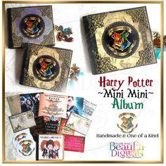 Harry Potter Miniature Handmade Mini Album - Quotes, Notebook, Stickers, Logo