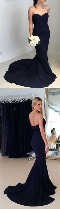7f1f031702a Affordable Popular Black Sweetheart Elegant Mermaid Long Bridesmaid Dresses