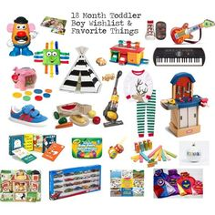 18 Month Toddler Boy Gift Ideas, Wishlist and Favorite Things - perfect birthday or holiday gift ideas for toddlers Toddler Boy Gifts, Toddler Fun, Toddler Toys, Baby Toys, Toddler Slide, Toddler Stuff, Kid Stuff, Kids Toys, Michael Christmas