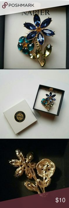 Napier flower pin / brooch. NWT. Brand new Napier pin / brooch. Never worn. About 2.5 inches. Napier  Jewelry Brooches