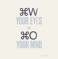 Cierra los ojos y abre tu mente