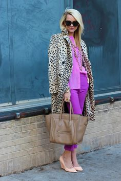 I heart Leopard print and bold colors!