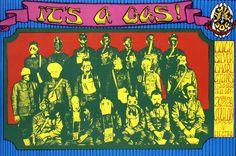 Quicksilver Messenger Service - Charlatans (April 26/27/28.1968 at Avalon Ballroom, San Francisco, CA)  classic rock psychedelic concert poster