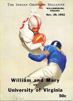 Uk Football, Football Program, Vintage Football, College Football, Wake Forest Football, William And Mary, Bowl Game, University Of Virginia, Sports Art