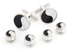 JJ Weston Diamond Cut Cufflinks Made in The USA.