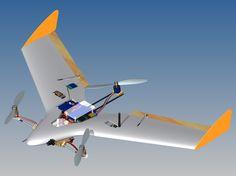 "Introducing the ""Orange Hawk"" Tricopter/Flying-Wing VTOL UAV - DIY Drones"