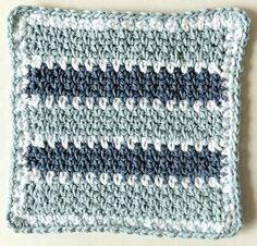 Best Free Crochet » #137 Denim Tracks Crochet Dishcloth – Maggie Weldon Maggies Crochet Tutorial •✿• Teresa Restegui http://www.pinterest.com/teretegui/ •✿•