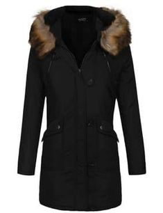 Women's Fashion Faux Fur Lapel Double-Breasted Thick Wool Trench Coat Jacket - A_black XX-Large Plus Size Maxi Dresses, Short Sleeve Dresses, Wool Trench Coat, Wool Coats, Very Short Dress, Cap Dress, Cosplay Dress, Pretty Dresses, Coats For Women