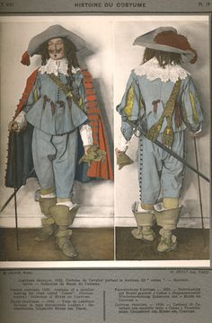 French costume of a cavalier, 1635