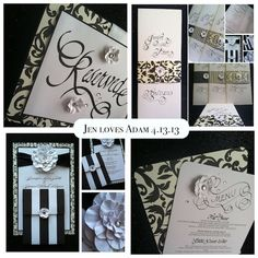 Vintage glam wedding invitations and graphic design. A 1950s black & white, vintage glam wedding at the Meadowlark Botanical Gardens in Northern Virginia. Images by Michael Clark.