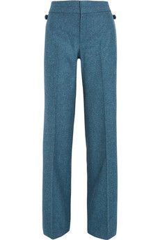 Gucci Wool-flannel wide-leg pants   NET-A-PORTER