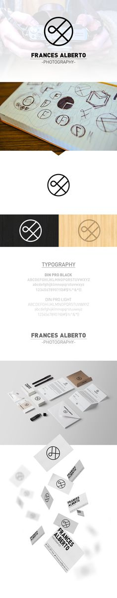 Brand & Identity by Orlando Marty https://www.behance.net/gallery/16460169/Frances-Alberto-Photography-Branding