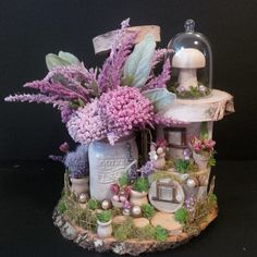 OOAK Fairy House: Parisian Palace by BirchTreeFairyHouses on Etsy