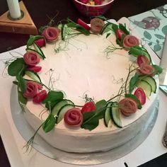 Sandwich Cake, Sandwiches, Buffet, Food Photography, Fruit, Desserts, Savoury Cake, Savory Snacks, Tailgate Desserts