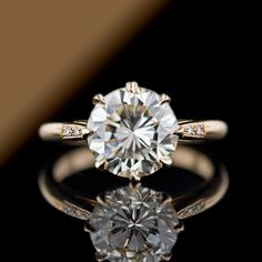 3.04 Carat Rose Gold Diamond Solitaire.. I want this to be my wedding ring!