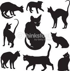 Résultats de recherche d'images pour « silhouette de chat sphynx »
