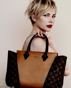 Michelle Williams for Louis Vuitton. Love, love her look. PS- I want this bag!