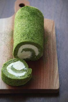 「抹茶シフォン・ロール。」ChococoHS | お菓子・パンのレシピや作り方【corecle*コレクル】