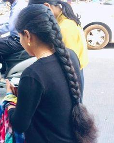 Long Hair Indian Girls, Indian Long Hair Braid, Indian Hairstyles, Girl Hairstyles, Braided Hairstyles, Hairdos, Beautiful Brown Hair, Beautiful Braids, Long Black Hair