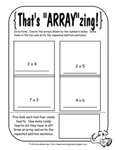 math worksheet : multiplication using arrays worksheets  multiplication  : Multiplication Arrays Worksheet