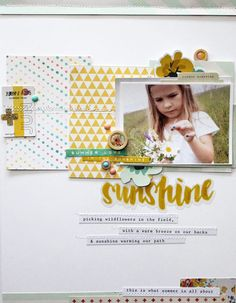 #papercrafting #scrapbook #layout - Sunshine by Melane at @studio_calico