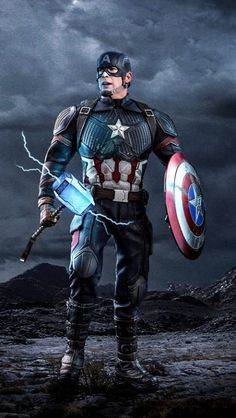 Captain America Worthy Mjolnir iPhone Wallpape r Marvel Dc Comics, Marvel Avengers, Marvel Films, Marvel Characters, Marvel Heroes, Marvel Cinematic, Iron Man Avengers, Marvel Captain America, Capitan America Wallpaper