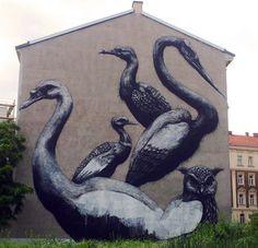 Nuevo mural de ROA en Viena
