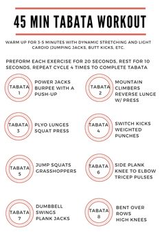 45 Min Full Body Tabata Workout