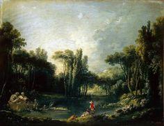 François Boucher: Landscape with a pond (1746)