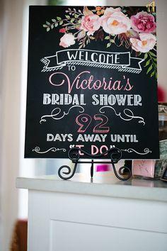 1840e9deac78 Welcome Bridal Shower Sign - Days Until I Do - Wedding Chalkboard ...