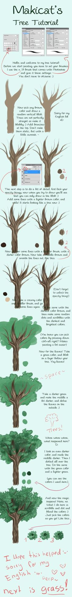 A quick little tutorial about how I draw grass. I created it in Photoshop Elements but it is applicable to almost any good art program. Digital Painting Tutorials, Digital Art Tutorial, Art Tutorials, Disney Drawings, Cool Drawings, Drawing Disney, Pencil Drawings, Nature Landscape, Landscape Elements