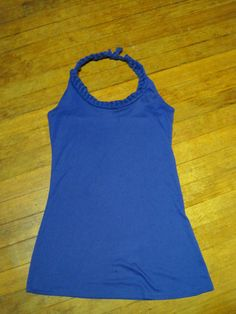 Braided Collar Halter Top #t-shirt #upcycle #reuse #fashion