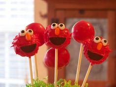 Elmo cake pops @Desaree Bryner