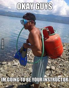 Scuba diving..