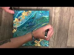 How to Embellish Any Pour Into a Gorgeous Geode Style - YouTube