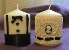 Marturie nunta EL & EA Our Wedding, Wedding Gifts, Wedding Stuff, Pillar Candles, Homemade, Weeding, Bar, Wedding Giveaways, Grass