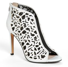 Vince Camuto Kalista Peep Toe Leather Bootie. Now bring on spring!