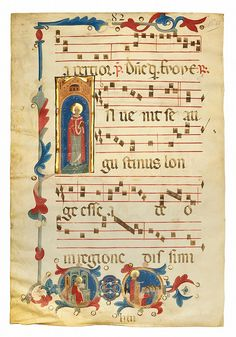 ST AUGUSTINE OF HIPPO, HISTORIATED INITIAL ON A LEAF FROM TH
