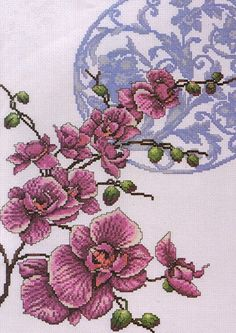 Counted Cross Stitch Kit Orchids From Design Works