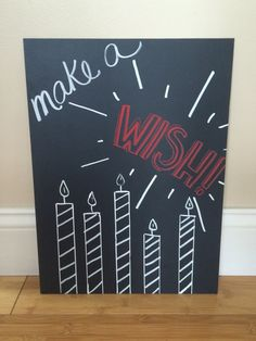 Happy Birthday chalkboard by BeautifullyChalked on Etsy